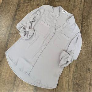 Express Light Gray Portofino Shirt Size Small